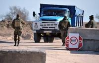 На границе Крыма и Украины выстроилась очередь из автомобилей