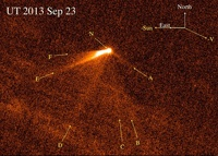 «Хаббл» нашел комету с шестью хвостами