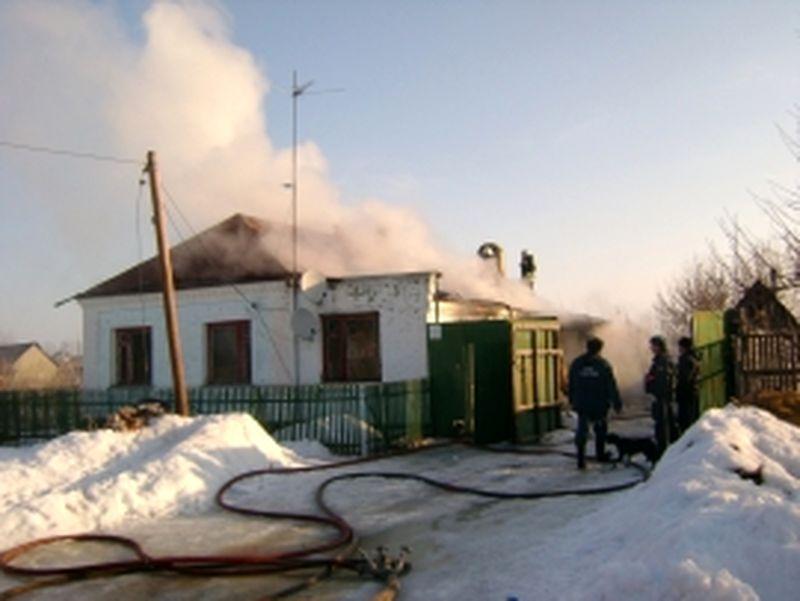 В результате пожара в Моршанском районе пострадала девушка