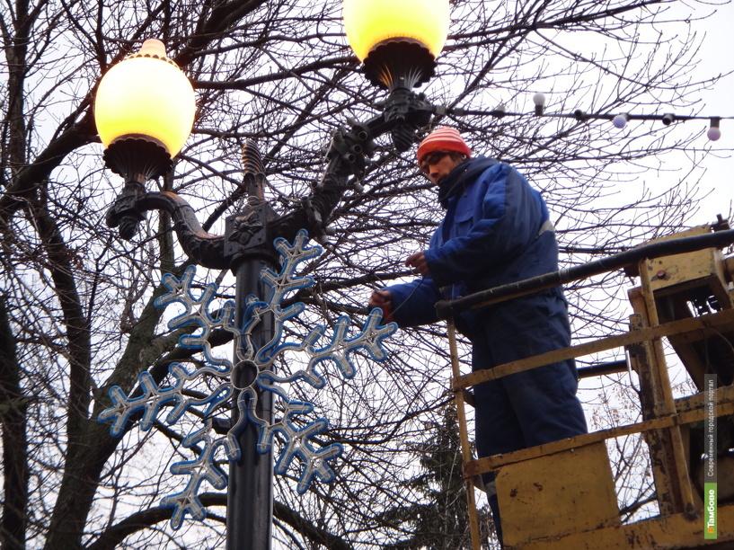 В Тамбове зажглись светодиодные снежинки
