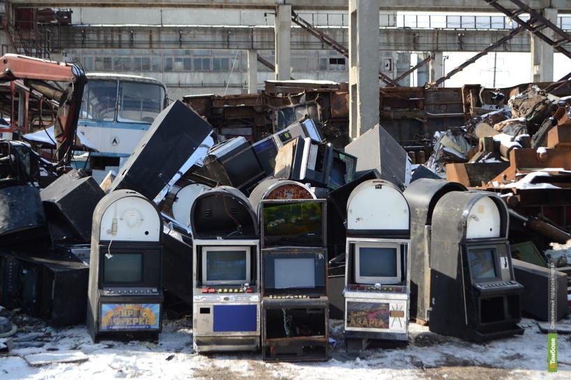 В Тамбове уничтожили 96 игровых автоматов