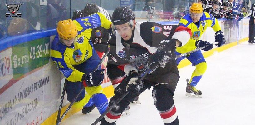 Тамбовчане сумели вырвать вторую победу у хоккейного клуба «Челны»