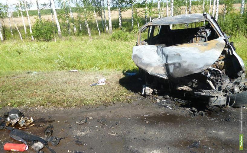 В Тамбовском районе столкнулись две легковушки: три человека погибли