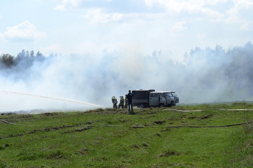 В Уваровском районе горело поле