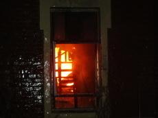 Сегодня ночью в Кирсанове полностью сгорел жилой дом