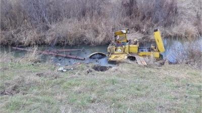 Под Рассказово тракторист утонул вместе со своим трактором