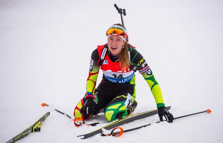 В Германии масс-старт выиграла белорусская биатлонистка