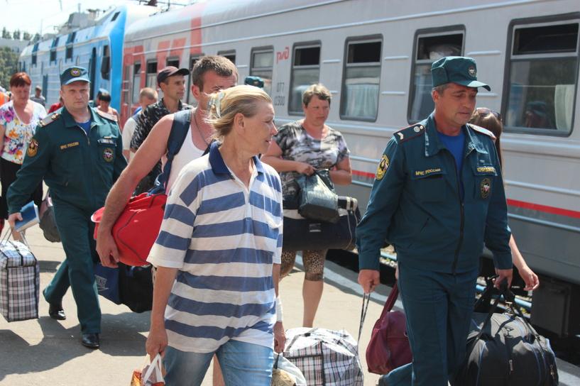 В Мичуринске встретили еще 82 переселенцев с Украины