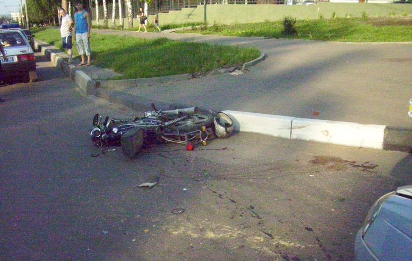 В Мучкапе столкнулись «Газель» и скутер