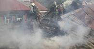 В Сосновском районе огонь уничтожил крышу здания