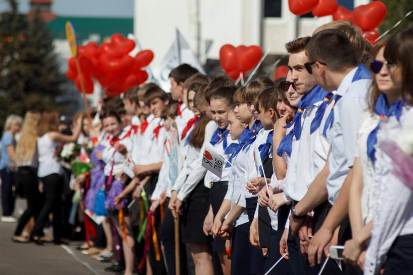 Современные пионеры прошли парадом по Тамбову