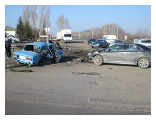 В Тамбовской области столкнулись «шестерка» и Toyota Camry