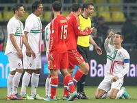 Сборная России по футболу ушла в отрыв от португальцев