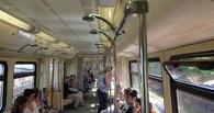 В вагоне московского метро неизвестные вкрутили душевые лейки