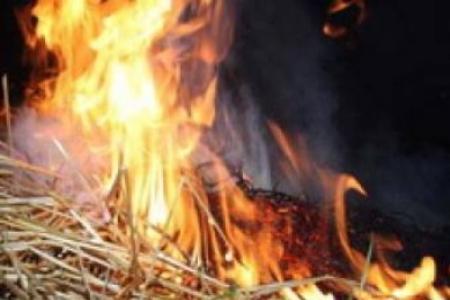 В Уваровском районе сгорело три тонны сена