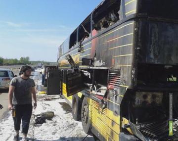 На тамбовском участке М6 горел автобус