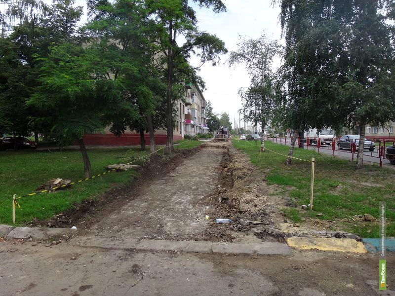 Улица Мичуринская лишилась тротуара