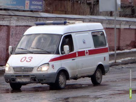 В Тамбовской области LADA столкнулась с Камазом