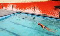 В Австралии море окрасилось в кроваво-багровый цвет