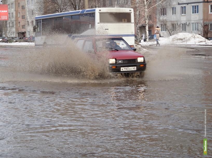 Дороги Тамбова превратились в «реки»