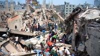 В Бангладеш на руинах рухнувшего здания произошел пожар