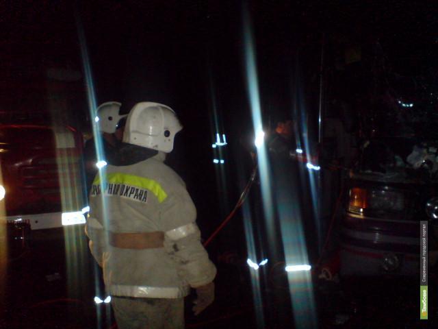 В Тамбовской области сгорели два авто