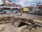 В Тамбове произошла коммунальная авария: из-под земли забил фонтан