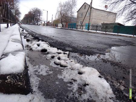 В Тамбове наконец-то заасфальтировали улицу Елецкая