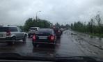 На въезде в Тамбов образовалась многокилометровая пробка