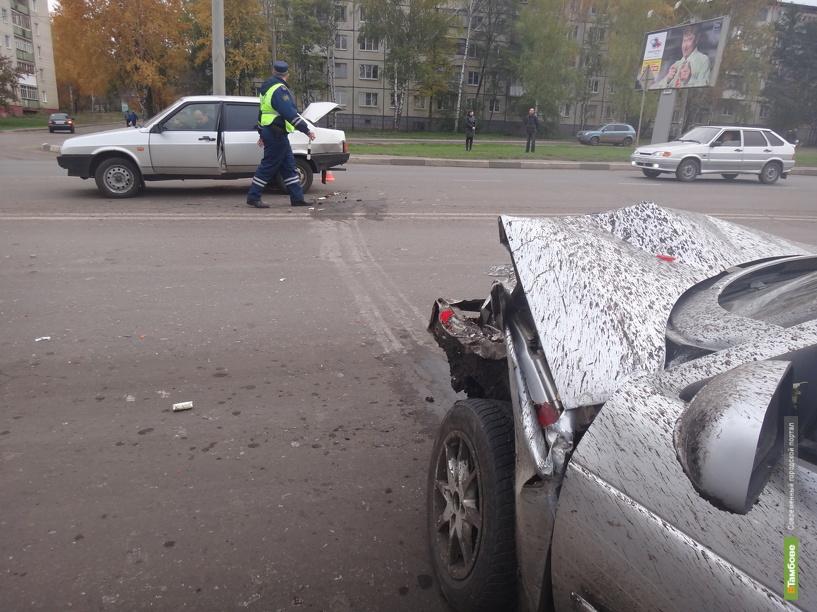 На севере Тамбова пьяный водитель устроил ДТП