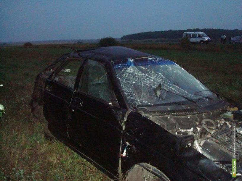 В Пичаевском районе перевернулся автомобиль