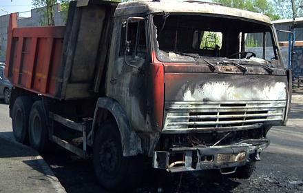 В Тамбове загорелся КамАЗ