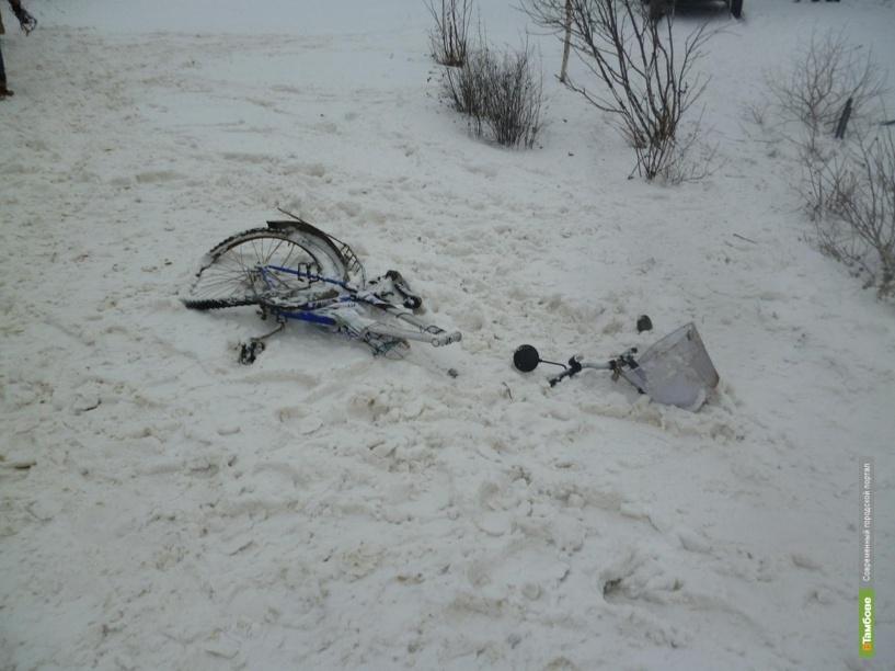 В Тамбовском районе легковушка сбила велосипедиста
