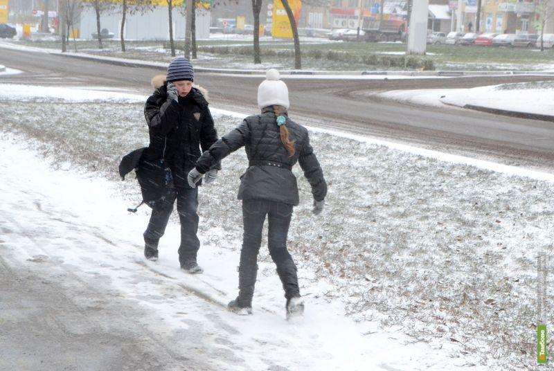 Улицы Тамбова стали белыми