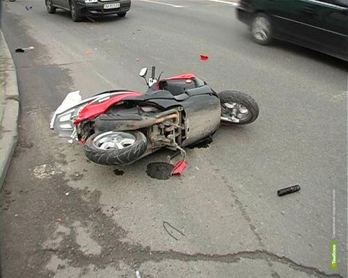 В Рассказово в аварию попал 12-летний водитель скутера