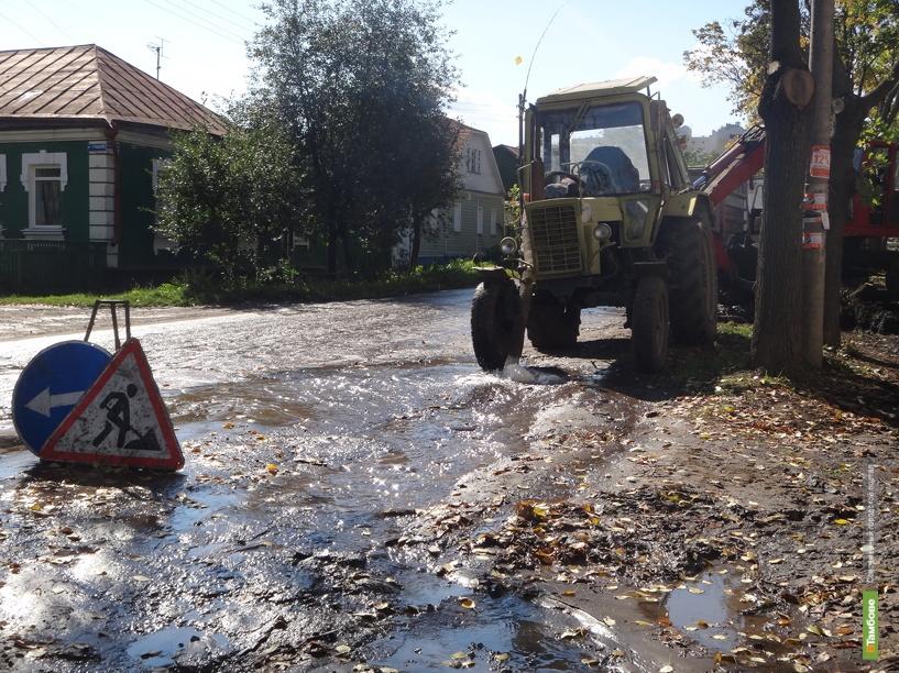 На севере Тамбова пять улиц залило водой
