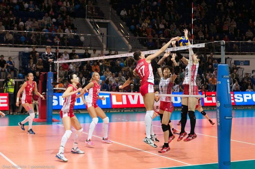 Российские волейболистки вышли в финал Кубка Ельцина