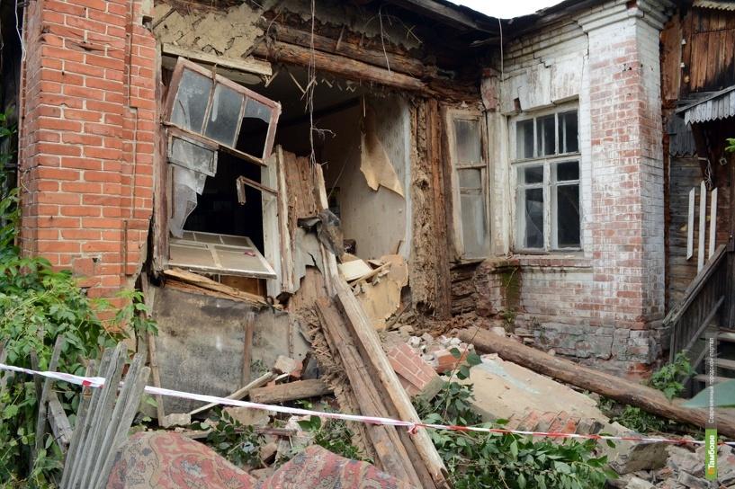 В жилом доме на улице М.Горького обрушилась стена