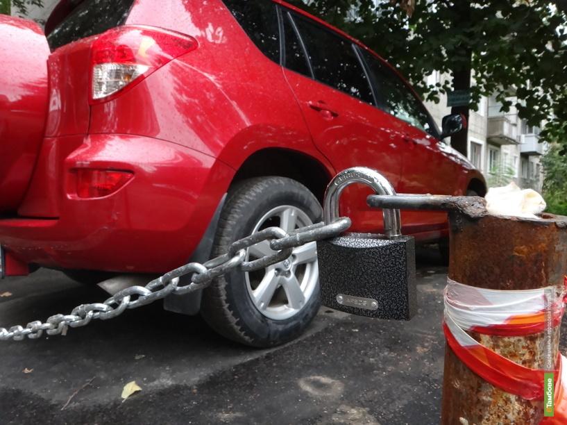 Тамбовчане освоили парковку «по-московски»