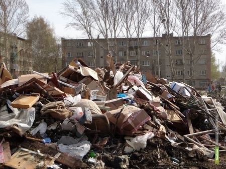 Тамбов завалило мусором