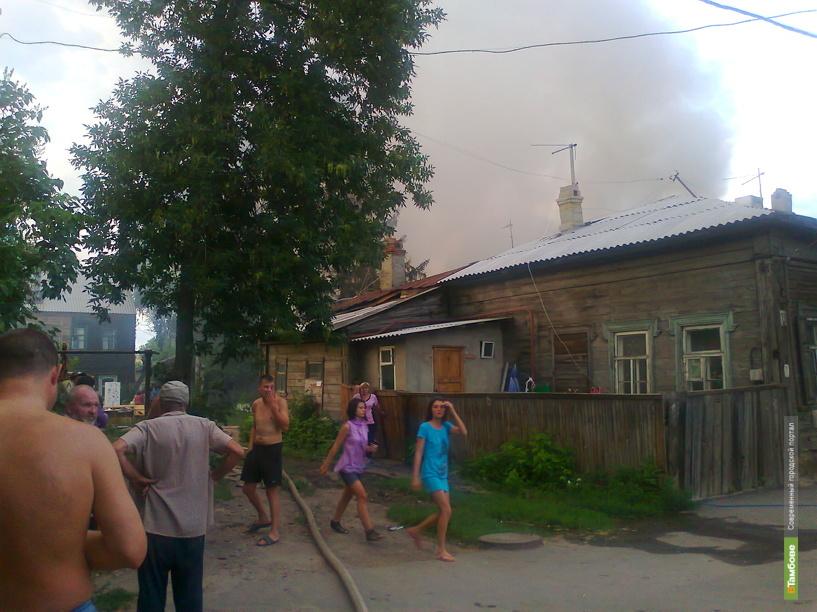 Пожар в центре Тамбова: фоторепортаж