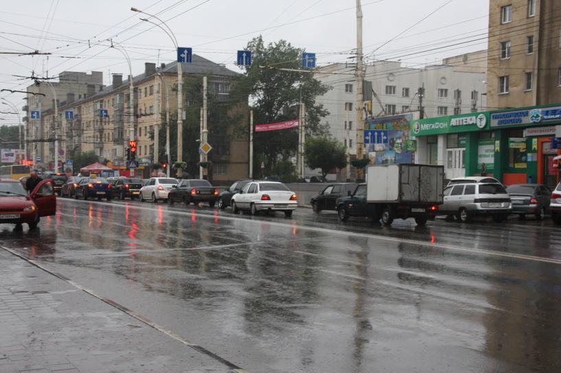 На Тамбов обрушились дождь и сильный ветер