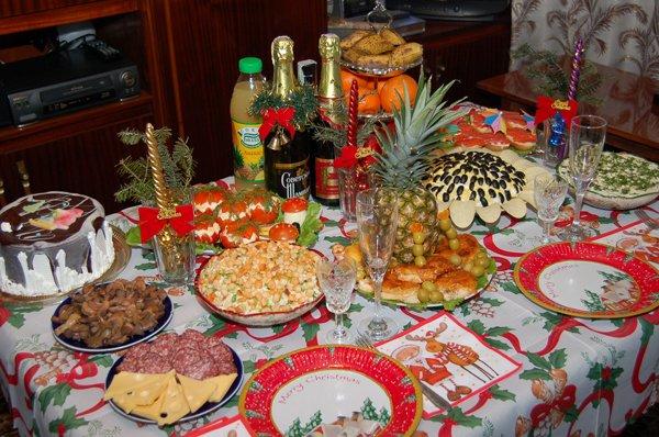Затраты на новогодний стол в России увеличились на 12%