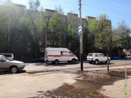 ВТамбове столкнулись микроавтобус и легковушка