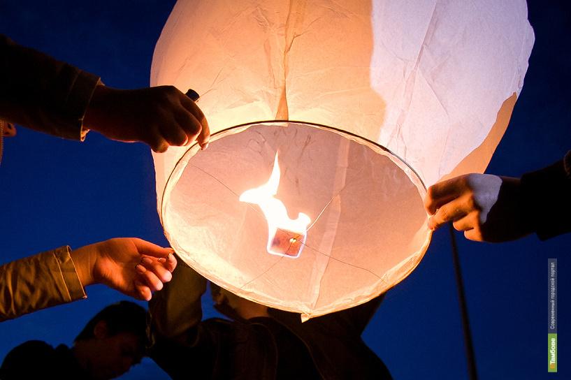 Тамбовчане проводили лето запуском небесных фонариков