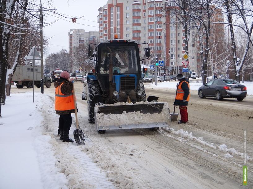 Тротуары в Тамбове будут мести машины