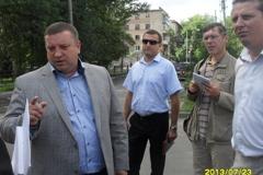 Глава Тамбова на личном автомобиле проинспектировал ямы на дорогах