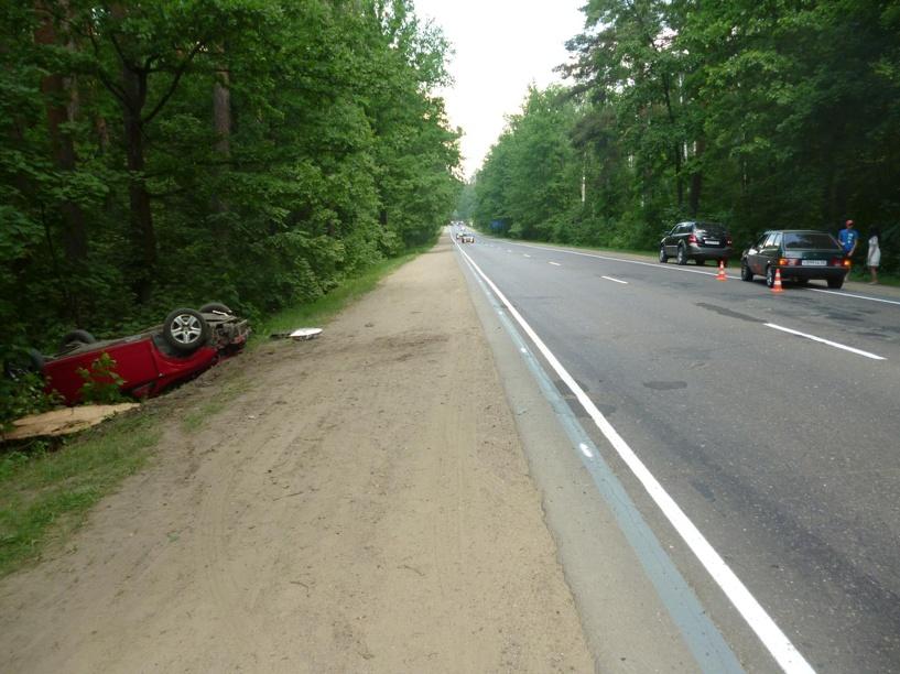 На южном обходе столкнулись два авто, ещё одно перевернулось