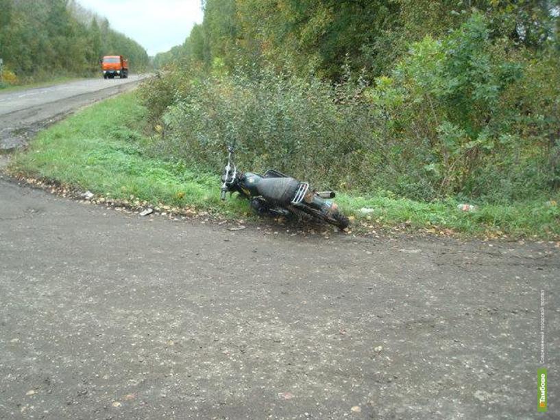 В Моршанском районе перевернулся мотоцикл с двумя людьми