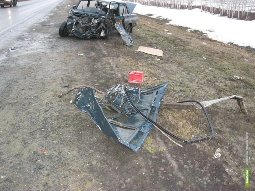 На Тамбовщине ВАЗ 2107 столкнулся с МАЗом